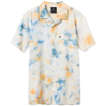 Junk Food Men's Rafe Short Sleeve Tie Dye Camp Shirt