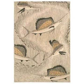 Liora Manne Portofino Sailfish Indoor/Outdoor Rug (4'10