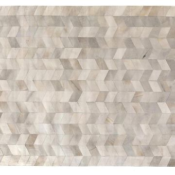 """Stitched Chevron Hide - Gray - Exquisite Rugs - 11'6""""x14'6"""""""