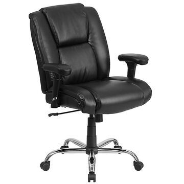 Flash Furniture Big & Tall Faux Leather Swivel Task Chair In Black