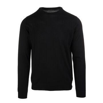 Zanone Man Black Shaved Wool Pullover