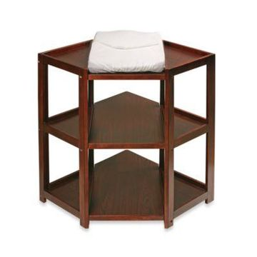 Badger Basket Corner Unit Changing Table in Cherry