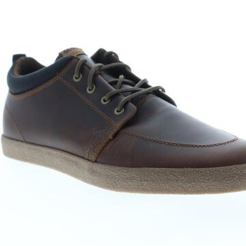Globe GS Chukka Mens Brown Leather Athletic Skate Shoes