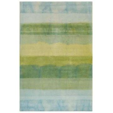 Liora Manne Piazza Textured Stripe 8'3 x 11'6 Handcrafted Area Rug in Sea Breeze