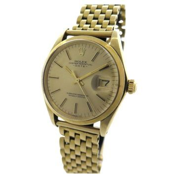Vintage Rolex Oyster Perpetual 34mm Gold Yellow gold Watches