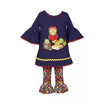 Bonnie Jean Girls' Baby Girls Bookworm Graphic Top And Legging Set