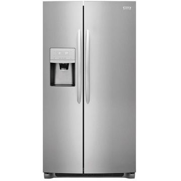 Frigidaire Gallery 25.5-cu ft Side-by-Side Refrigerator with Ice Maker (Smudge-Proof Stainless Steel) Energy Star