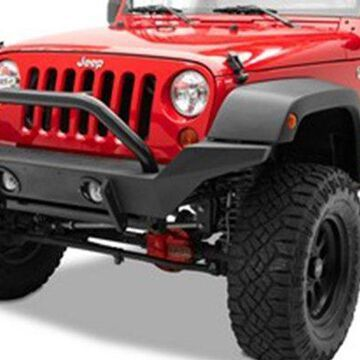 2021 Jeep Gladiator Bestop HighRock 4x4 High Access Front Bumpers in Satin Black