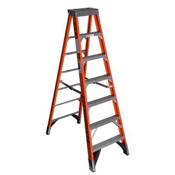 Werner 7-ft Fiberglass Type 1AA - 375 lbs Capacity Step Ladder