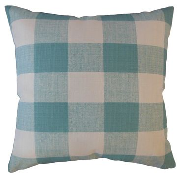 The Pillow Collection Oormi Plaid Decorative Throw Pillow