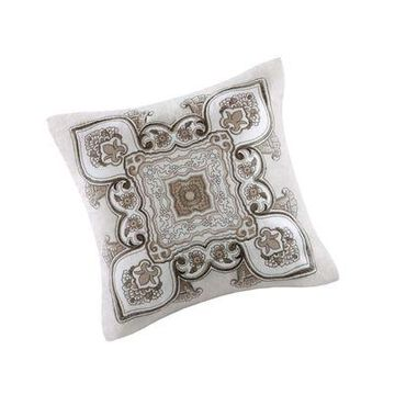 ''Echo Odyssey Square Fashion Cotton Throw Pillow, Global Inspired Embroidered ...''
