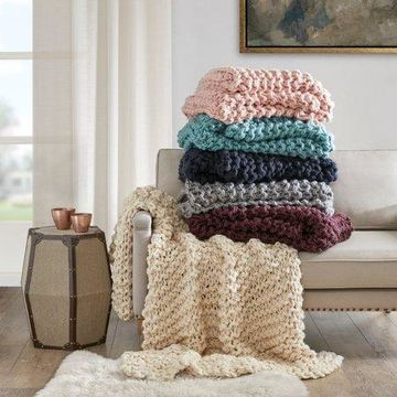 Home Essence Chunky Knit Ultra Soft and Warm Throw