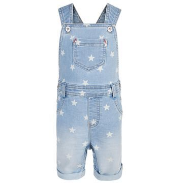 Baby Boys Star-Print Denim Shortalls, Created for Macy's