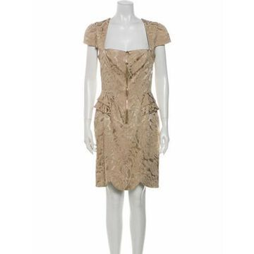 Lace Pattern Knee-Length Dress