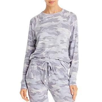 Beyond Yoga Camo Raglan-Sleeve Sweatshirt