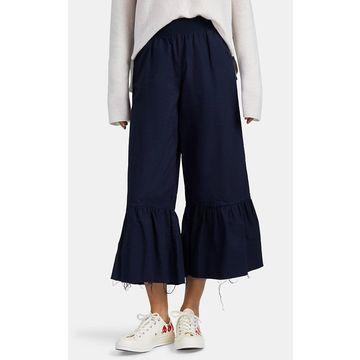 ATM Anthony Thomas Melillo Flounce-Hem Cotton Crop Pants