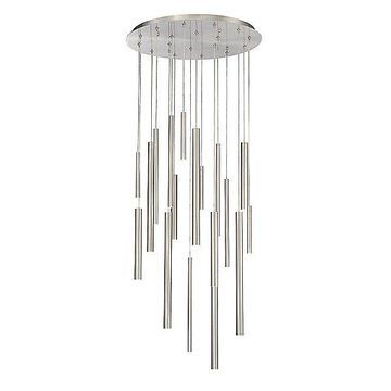 Eurofase Santana LED Chandelier - Color: Silver - Size: 18 light - 31445-025