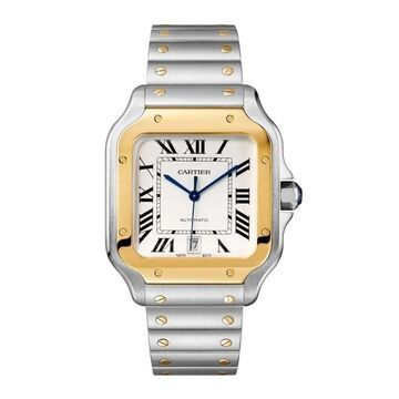 Cartier Men's W2SA0006 'Santos' Two-Tone 18K Gold-Tone and Stainless Steel Watch