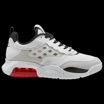 Jordan Mens Jordan Max 200 - Mens Basketball Shoes White/Black/Challenge Red/Vast Grey Size 9.0