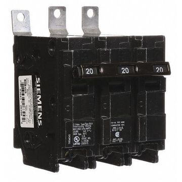 Miniature Circuit Breaker, 20 A, 240V AC, 3 Pole, Bolt On Mounting Style, BL Series