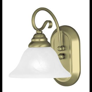 Livex Lighting 6101 Coronado 1 Light Wall Sconce Antique Brass Indoor Lighting Wall Sconces Bathroom Sconce