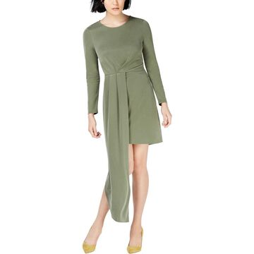 Bar III Womens Asymmetrical Mini Cocktail Dress