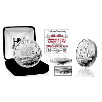 Highland Mint Tampa Bay Buccaneers Super Bowl LV Champions 1 Troy Ounce .999 Fine Silver Coin