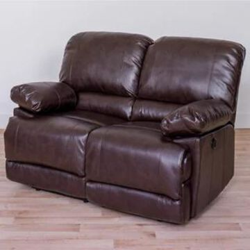 CorLiving Lea Bonded Leather Power Reclining Loveseat With USB Port (Brown)