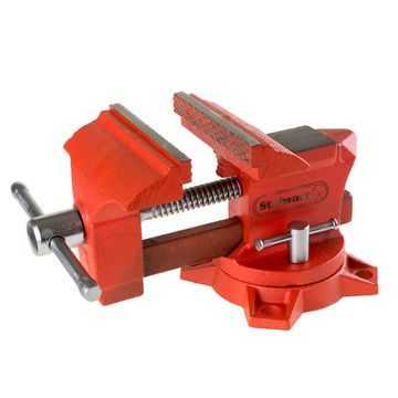 Stalwart 4.5 in. Jaw 270 Degree Swivel Table Vise