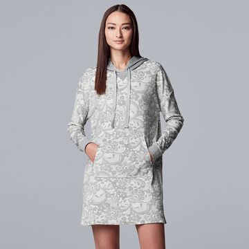 Women's Simply Vera Vera Wang Hooded Velour Sleepshirt