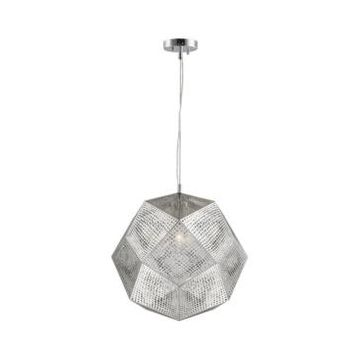 Worldwide Lighting Geometrics 3-Light Chrome Finish Stainless Steel Pendant Light