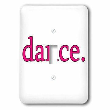 3dRose dance. Pink., Single Toggle Switch