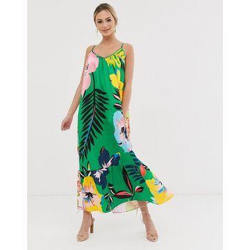 Liquorish 2-way cami maxi dress in floral print