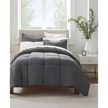 Serta Simply Clean Antimicrobial Full/Queen Comforter Set, 3 Piece Bedding