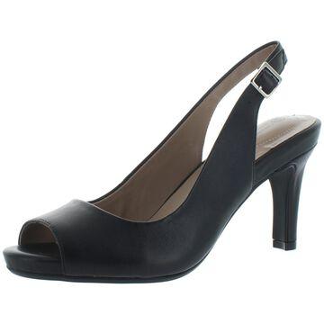 Giani Bernini Womens Layceel Leather Memory Foam Heel Sandals