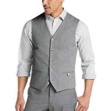 Joseph Abboud Gray Twill Vest