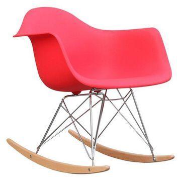 Fine Mod Imports Rocker Armchair, Red