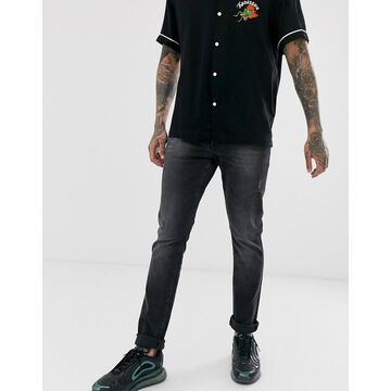 Armani Exchange J14 stretch skinny fit jeans in dark gray