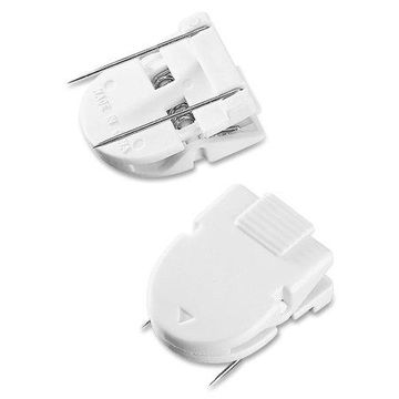 Advantus Panel Wall Clips for Fabric Panels, Standard Size, White, 50/Box