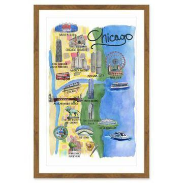 Marmont Hill The Spirit of Chicago 16-Inch x 24-Inch Framed Wall Art