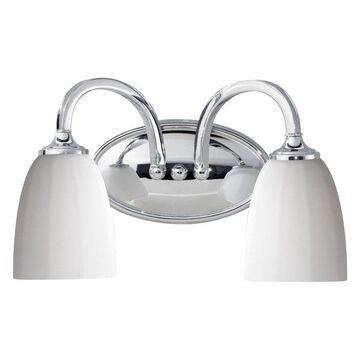 Feiss 2-Light Vanity Fixture, Chrome