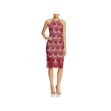 Keepsake Womens Cocktail Dress Lace Midi