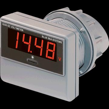 Blue Sea Systems #8235 Digital DC Voltmeter 0-60VDC w/ Mount