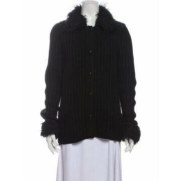 Virgin Wool Faux Fur Jacket Wool