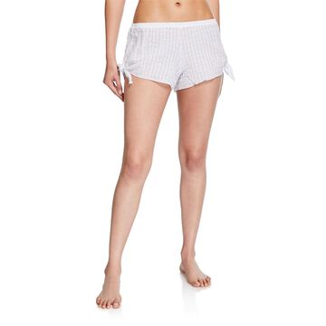 Paz Scallop Side-Tie Shorts