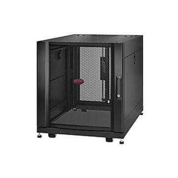 APC by Schneider Electric NetShelter SX 12U Server Rack Enclosure 600mm x 900mm w/ Sides Black - For Server, Patch Panel, LAN Switch - 12U Rack Height