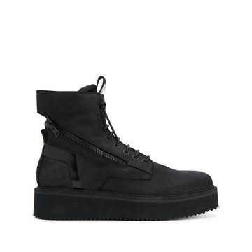 flatform lace-up boots