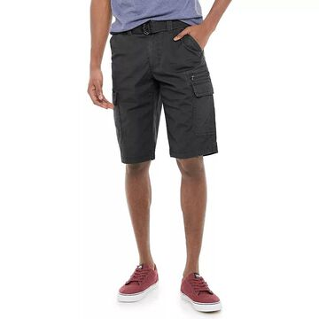 Men's Urban Pipeline Belted Stretch Canvas Cargo Shorts, Size: 30, Black