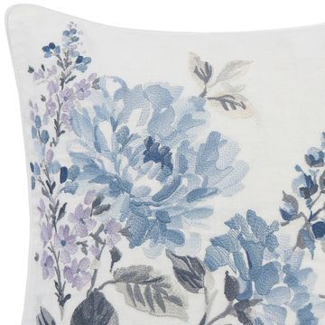Laura Ashley Chloe Floral Embroidered Throw Pillow