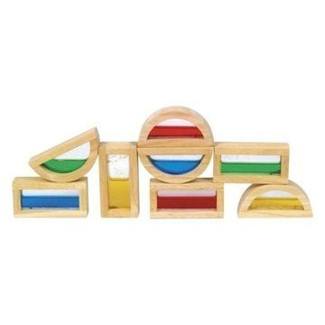 Guidecraft Hardwood Rainbow Blocks - Water